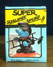 Smurfs Chimney Sweep Super Smurf Figure Rare Vintage Box Toy PVC Figurine 40202