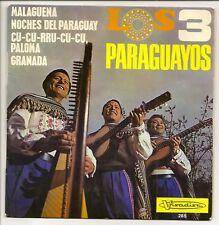 "LOS 3 PARAGUAYOS Vinyl 45T 7"" MALAGUENA -PARAGUAY -PALOMA -GRANADA -VISADISC 265"