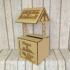 WISHING WELL, PERSONALISED MDF Wedding Card Box, Post Box