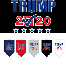 Trump In 2020 Screen Print Dog Bandana, Assorted Colors and Sizes
