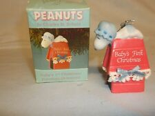 Willitts 1966 Peanuts Snoopy First Christmas Porcelain Ornament #9358 W/Box