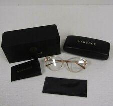 Versace VE3262B Women's Eyeglasses Frames, Transparent Brown - $300