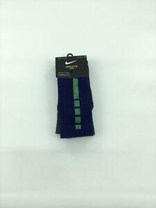 Nike Elite Crew Youth Socks 5y-7y Blue Green NWT Young Athletes NWT 2 Pairs