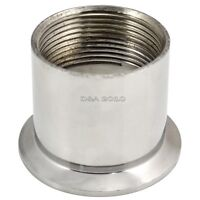 """1.5"""" DN40 Sanitary Female Threaded Pipe Fitting to TRI CLAMP OD 64mm SS304 NPT"""