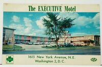 Washington DC The Executive Motel New York Ave 1950s  Old Cars Postcard I11