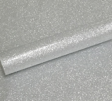 10 A4 SILVER NON SHED SOFT TOUCH GLITTER PAPER, WHITE BACKED APPROX  150GSM