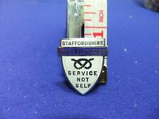 vtg badge staffordshire youth clubs service not self 1950s community centre