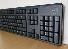 LEISE Dell Computer QUITE Tastatur DEUTSCH USB QWERTZ Layout schwarz PC keyboard