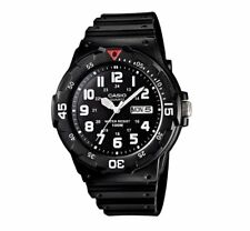 MRW-200H-1B Casio Men's black Rubber Strap Day Date 100M Analog Sports Watch