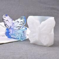 Silicone Butterfly Tea Light Candle Holder Resin Mold Crafts Epoxy Casting Z6V0