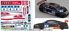 1/43 Décalque audi r8 LMS ULTRA 'Belgian Audi Club expérimentés' 24 H Nurburgring 2012