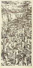GERHARD KETTNER - AM STRAND (KLEINE FASSUNG) - Federlithografie 1968