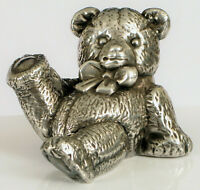 VINTAGE FIGURAL 3D SCULPTURE OF TEDDY BEAR MARKED 925 STERLING SILVER STEIFF !!?