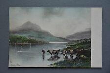 R&L Postcard: Bala Lake, Raphael Tuck, Wales, Cattle Cows