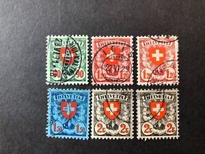 Switzerland 1924 Shield and Value set + extras fu-u Sg 329-332a