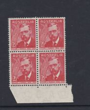 AUSTRALIA William Farrer Wheat  1948 MNH SG225 Marginal Block of 4 x 2 1/2d