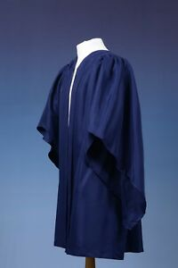 Navy Blue Bachelor Style UK Graduation Gown  -- CLEARANCE