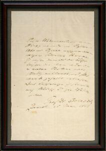 Christian Albert Theodor Billroth: Handschriftl. Brief mit Unterschrift. (1866).