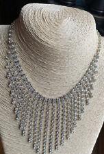 Statement Fringe Style Crystal Set Necklace - Stunning