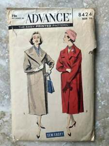 Advance 8424 | Bust 31 | Coat | Vintage 1950s Sewing Pattern