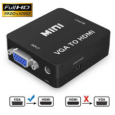 VGA to HDMI Video Adapter VGA2HDMI Converter Adapter with Audio, with USB Cable