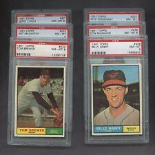 Lot of (6) 1961 Topps Baseball PSA 8 NM-MT