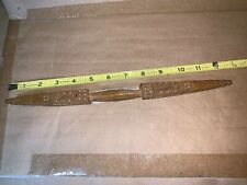 Antique Elaborately Hand Carved Batten-Beater, hand-weaving,Denmark-Norw ay-Swede