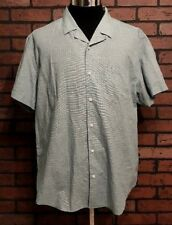 Banana Republic Soft Wash Slim Fit Short Sleeve Button Front Shirt Men's Size XL