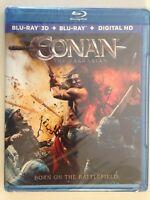 Conan the Barbarian (Blu-ray/DVD, 2011, 2-Disc Set, 3D/2D)(NEW)