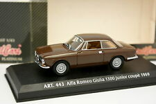 Detail Cars 1/43 - Alfa Romeo Giulia Bertone 1300 Junior Coupé 1969 Marron