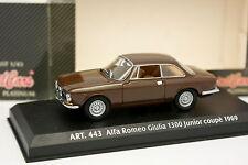 Detail Cars 1/43 - Alfa Romeo Giulia Bertone 1300 Junior Coupé 1969 Marron