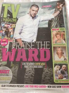 SHAYNE WARD PHOTO COVER TV MAGAZINE - 15 AUGUST 2015 - NEW - ANEURIN BARNARD