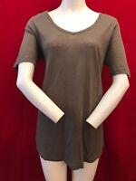 FAT FACE Women's 100% Linen Short Sleeve Semi Sheer Tunic Top UK 12
