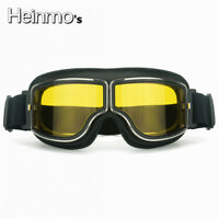 Retro Motorrad Brille Brille Bike Aviator Pilot Outdoor Helm Goggles Glasses