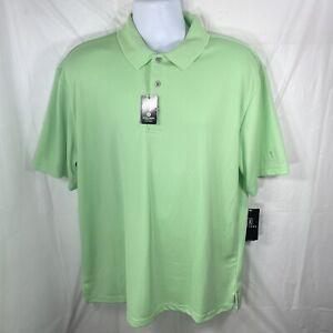 PGA Tour Mens XL Airflux Golf Polo Mint Green Ash Athletic Collared Shirt NWT
