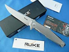 Ruike P108-SF Frame Lock Folder Knife Beta Plus Lock Stone Washed 14C28N