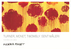 CY TWOMBLY Flowers 27.5 x 39.5 Poster 2011 Contemporary Red, Yellow
