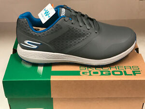 NEW SKECHERS GO GOLF MAX 54542/CCBL GOLF SHOES CHARCOAL/BLUE 13M