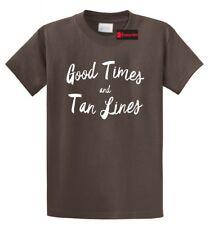 Good Times and Tan Lines T Shirt Cute Summer Vacation Beach Tee Shirt