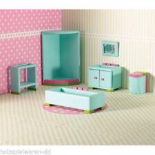 Wooden Bathroom Miniature Furniture Sets for Dolls