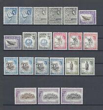ADEN 1953-63 SG 48/72 + MINT Cat £457