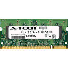 2GB DDR2 PC2-5300 667MHz SODIMM (Crucial CT2CP25664AC667 Equivalent) Memory RAM