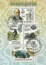 Timbres Voitures Burundi 1481/4 o année 2012 lot 24271 - cote : 18 €