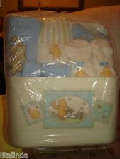 WINNIE THE POOH BLUE GIFT BUCKET ASSORTED ITEMS  NWT