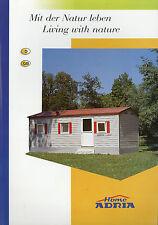 Adria Prospekt 2003 Home Mobilheim brochure prospectus catalogus catalogue