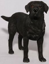 Black Labrador Dog Ornament Figurine Standing Dog Studies Range by Leonardo