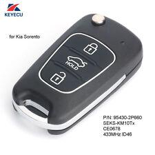 Upgraded Flip Remote Key Fob 433MHz ID46 for Kia Sorento 2009-2012 95430-2P660