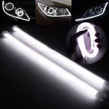 2PCS 60CM LED White Car DRL Daytime Running Lamp Strip Light Flexible Soft Tube