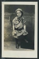 Rare RPPC 10's CUTE YOUNG BOY HOLDING BASEBALL & READY TO PLAY BALL One of Kind