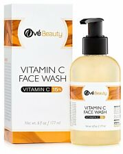 15 Vitamin C Face Wash 6 oz. Best Daily Face Wash Cleanser by Ove Beauty NEW